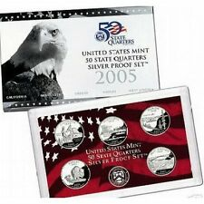 2005 US Mint State Quarter SILVER Proof Set