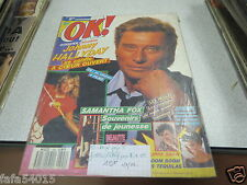 REVUE AVEC COUVERTURE JOHNNY HALLYDAY AGE TENDRE OK N° 702 1989 *