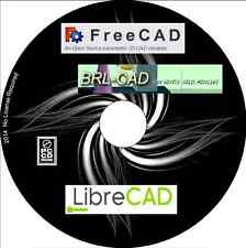 Libre CAD, BRL CAD, FreeCAD, 3D & 2D CAD modellers on one CD