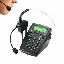 Call Center Dialpad Headset Telephone with Tone Dial Key Pad & REDIAL for Office