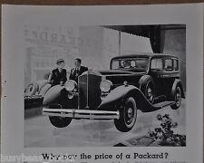 1934 Packard advertisement, PACKARD Motor Car in dealers showroom window