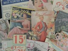 Lot of 12 Vintage WOMEN MAGAZINE & ADS Die Cuts for CRAFTING | Lot M6
