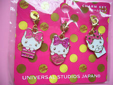 BRAND NEW HELLO KITTY CHARMS FROM UNIVERSAL STUDIO JAPAN