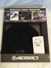 Aerial 7 Sound Disc Beanie Aderente Stile Nero integrato auricolari iPhone mp3