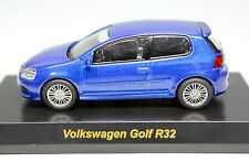 7001 Kyosho 1/64 VM Golf V R32 Blue VW MiniCar Collection Tracking Number