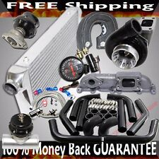 Black GT35 Turbo+Piping+Wastegate+BOV for 03-05 Dodge Neon SRT-4 2.4L DOHC