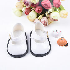 Fashion White Leather Shoes for 18 inch American Girl Doll Party Kids Cute Toy