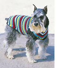 """Lovely crochet dogs winter coat- Pattern only- fits chest s-10"""" to 30"""" XL- DK"""