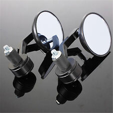 "Pair 7/8"" UNIVERSAL MOTORCYCLE BAR END REARVIEW REAR VIIEW MIRRORS ALUMINUM"