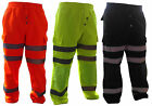 HI-LIGHT Premium Hi Viz Combat Work Wear Jogging Bottoms Cargo Trousers Joggers