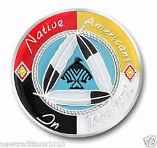 """Native Americans In Recovery""""Healing Hoop""""  AA 12 Step Enameled Coin/Medallion"""