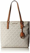 Michael Kors Morgan Medium Signature Logo Monogram Tote (Vanilla)