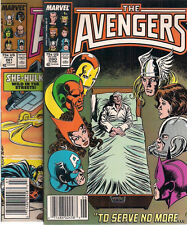 THE AVENGERS lot of (2) #280 #281 (1987) Marvel Comics VG+/FINE-