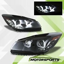 [LED U Bar] 2013 2014 2015 Ford Escape i8 Style Black Projector Headlights Pair