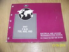 1997 F & B 700, 800, 900, ELECTRICAL AND VACUUM SERVICE MANUAL