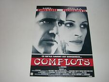 AFFICHE PROMO VIDEO CLUB--COMPLOTS--GIBSON/ROBERTS/DONNER