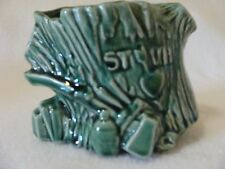 McCOY 1955 STUMP/AX GREEN PLANTER-MARKED-HEART-JUG-HIGH GLOSS