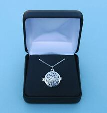 Sterling Silver Locket Pendant with Working Compass and Silver Chain- New in Box