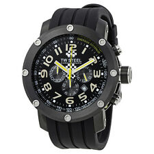 TW Steel Emerson Fittipaldi Black Rubber Chronograph Dial Mens Watch TW610
