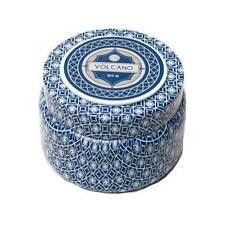 Aspen Bay Capri Blue Printed Travel Tin Candle Jar with Lid 8.5 oz- VOLCANO NO 6