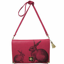 Disaster Designs Heritage & Harlequin Rabbit Pink Bunny Clutch Shoulder Handbag