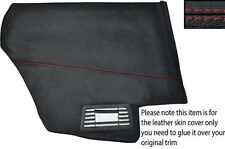 RED STITCH 2X REAR DOOR CARD PANEL SKIN COVERS FITS PEUGEOT 205 CJ CABRIO