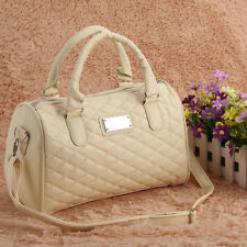 New Women Handbag Tote Purse PU Shoulder Bag Messenger Hobo Bag Satchel Beige