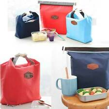 Insulated Lunch Food Tote Pouch Bag (Navy Blue)