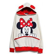 Womens Cartoon Mickey Minnie Hoodie Sweatshirt Jumper Top Hooded Coat Tracksuit