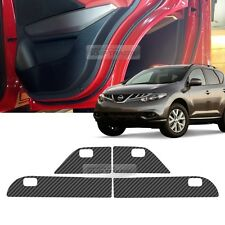 Carbon Door Decal Sticker Cover Kick Protector For NISSAN 2007 - 2014 MURANO