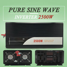 Pure Sine Wave Power Inverter solar 2500W DC 12V to AC 120V 60hz for Electronic