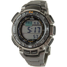 CASIO PAG240T-7CR Pathfinder Triple Sensor Multi-Function Titanium Mens Watch