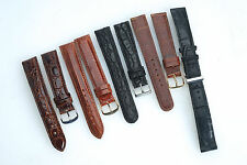 (E) 18mm Watch Band Strap LOT of 5 Teju Lizard Genuine Crocodile Deployment X5