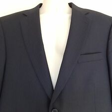 NWT $895 HICKEY FREEMAN Midnight Blue Pinstriped Poly Wool Summer Blazer Men 44R
