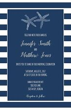 Wedding Invitations Beach Starfish 50 Invitations & RSVP Cards