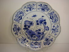 "Chelsea House Blue and White Hand-Painted Large Decorative Plate, 13"" Diameter"