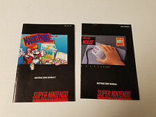 Snes Mario Paint and Mouse Instruction Manual  Booklet Only Nintendo