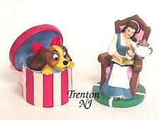 LENOX DISNEY BELLE & LADY THIMBLES BEAUTY & THE BEAST LADY & THE TRAMP NEW