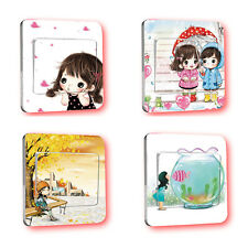 5 Pcs PVC Room Frame Switch Stickers Wall Mural Decor Cartoon Switch Stickers