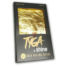 Shine 24K Tyga Gift Pack - King Size Gold Rolling Papers - 6 Pack