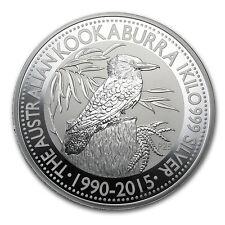 2015 1 Kilo Silver Australian Kookaburra Coin - SKU #84447