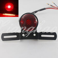 Custom Motorcycle Tail Brake Light Lamp Black Bracket For Chopper Bobber Honda