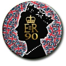 "90th BIRTHDAY OF HM QUEEN ELIZABETH II~ COMMEMORATIVE SOUVENIR ~1""/25 mm BADGE"