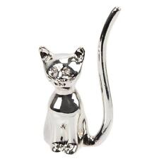 Silver Plated Cat Shape Ring Holder Gift 15274