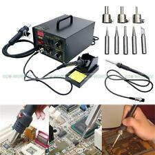 2in1 852D+ SMD Iron Soldering Welder Rework Station Hot Air & Iron LED Display