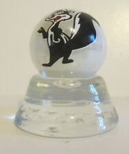 PEPE Le PEW CARTOON CHARACTER 1 INCH WHITE COLLECTOR MARBLE