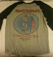 IRON MAIDEN SUPER RARE! Number Of The Beast on the road Tour shirt L