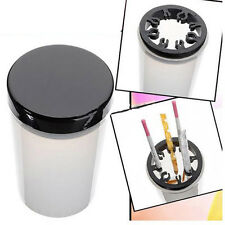 Nail Art Brush Cleaner Holder UV Acrylic Gel Pen Pot Cleanser Cup Bottle Tool