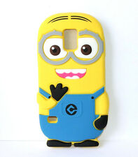 for Samsung Galaxy S5 -Soft Silicone Skin Case Cover Despicable Me Yellow Minion