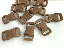 "12pcs 3/8"" Curved Side Release Plastic Buckle  for Paracord Bracelet  Coffee KL"